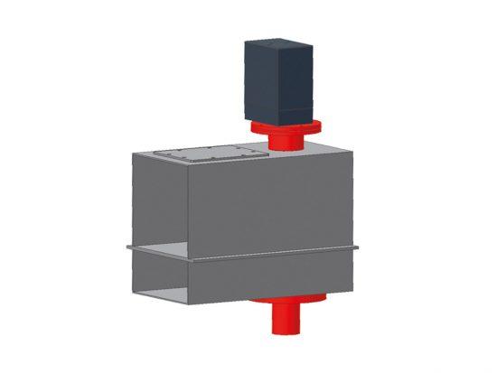 Rinnenprobenehmer RPN zur Probenahme aus dem Materialstrom einer Luftförderrinne